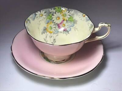 Paragon Bone China Pink Daisy Cup and Saucer