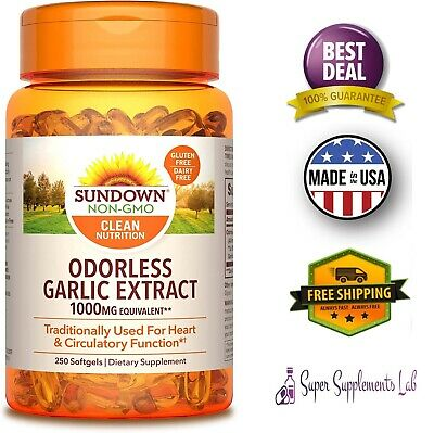 ODORLESS GARLIC 1200 mg 250 Softgels Capsule Pills Ultra Potent Extract Pills