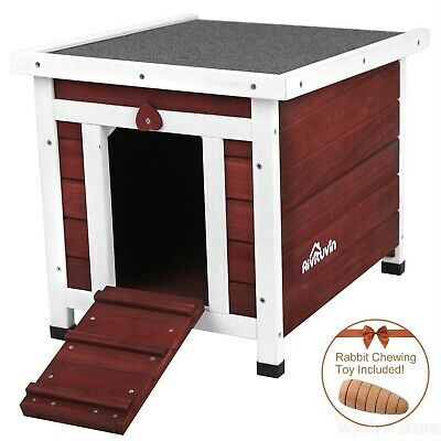 NEW Dog House Medium Wooden Stair Balcony Indoor Outdoor Shelter Pet All Weather