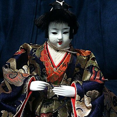 Vintage Beautiful Figurine Traditional Japanese Doll Collectibles Statue 3