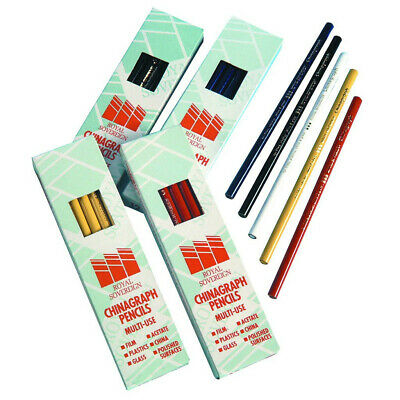Pack of 12 Green Royal Sovereign West Design Chinagraph Pencils