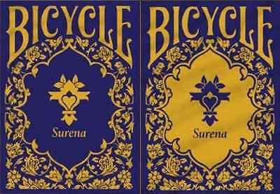 Bicycle Surena Indigo & Gold Playing Cards 2 Deck Set - Limited Edition – SEALED