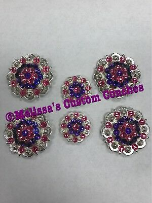 Western Saddle Set Of Conchos With Screws Bling