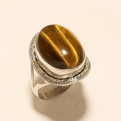 3453d3f39 Natural Brazilian Tiger Eye Statement Ring 925 Sterling Silver Fine Jewelry  Gift