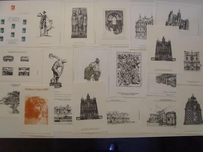 FRANCE COLLECTION OF 21 x VARIOUS GRAVURE POSTE ENGRAVINGS STAMPS TIMBRE FRENCH