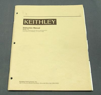Keithley 172A and 173A Digital Multimeter Instruction Manual w/ schematics