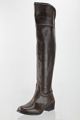 d2eb0ae7b2a Vince Camuto Baldwin Brown Leather Over the Knee Boot Women s Shoes Size 5  M NEW