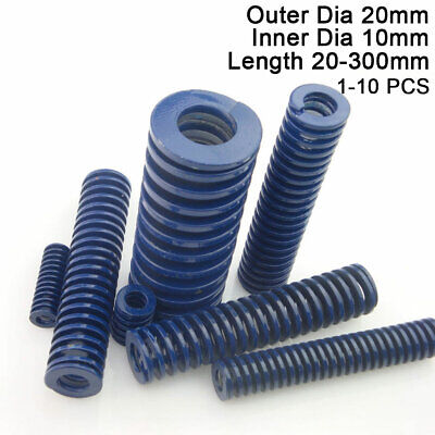 20mm OD Blue Light Load Compression Stamping Mould Die Spring 10mm ID All Sizes