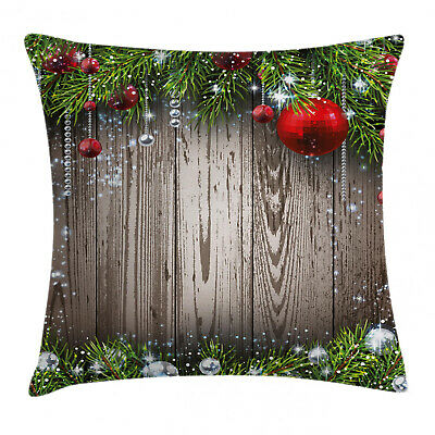 Christmas Elements Throw Pillow Cases Cushion Covers Home Decor 8 Sizes