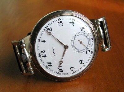 Antique Watch Branded Invar Extra Quality 16 Jewels  Movement Silver Gilt Case