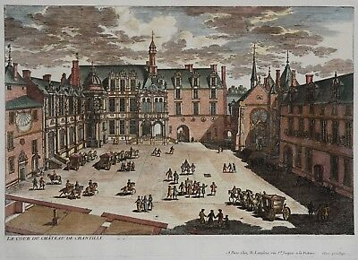 Schloss Chantilly - La cour du Chateau de Chantilly- Perelle bei Langlois - 1700