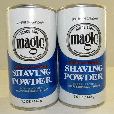 Softsheen-Carson Magic Shaving Powder Regular Strength   2 Cans / 5 oz Each  NEW