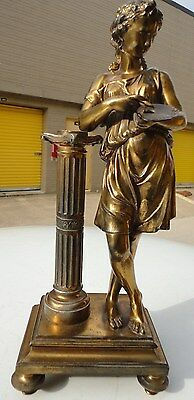 Greek /  Roman woman Goddess Sculptural   Figural statue bronze finish Bookend