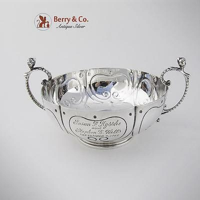 Currier And Roby Double Handled Marriage Bowl Sterling Silver 1930