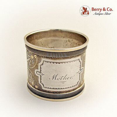 Napkin Ring Shagreen Sterling Silver 1880 Mother