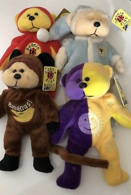Bundle Of 4 Retired Beanie Kids Bears All With Tags