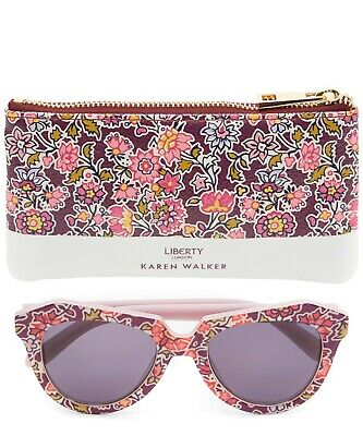 a68d4228b85 Karen Walker Number One x Liberty Worship Cat Eye Sunglasses Floral Print  Frame