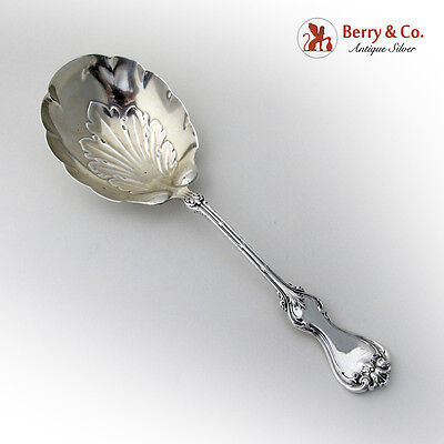 Duke of York Casserole Berry Spoon Sterling Silver Whiting 1900