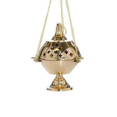 Avalle swinging charcoal resin burner handmade incense thurible with chain 1570