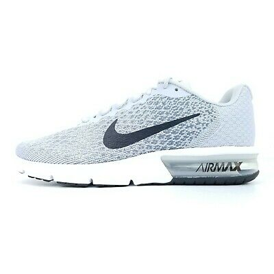 663434ae33d Nike Air Max Sequent 2 Men s Running Shoes Gray White Black 852461 002 Size