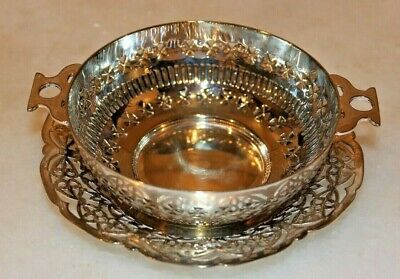 God looking Well Made Silver Plated Quaich Bowl By Viceroy Plate +Plated Dish