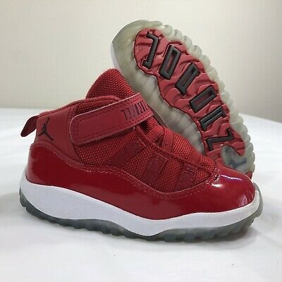 wholesale dealer 5b029 c7dbf NIKE AIR JORDAN Retro XI 11 Win Like 96 Gym Red Boys PS Toddler 8c Concord  Bred
