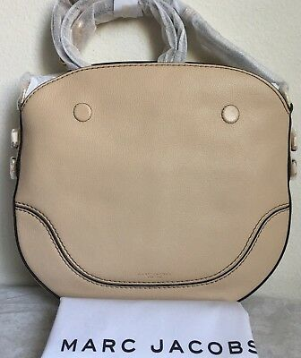 e203132562ff Marc Jacobs Small Drifter Leather Shoulder Bag  360 Buff Original Packing