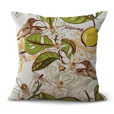 US SELLER- art nouveau flower cheap decorative pillow case for sofa