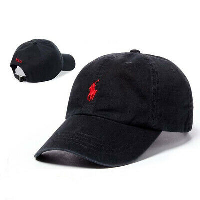 NWT Polo Embroidered Pony Classic Chino Cotton Sport Baseball Cap Unisex Hat O/S
