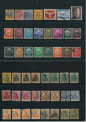 Germany, Deutsches Reich, Nazi, liquidation collection, stamps, Lot,used (HB 36)