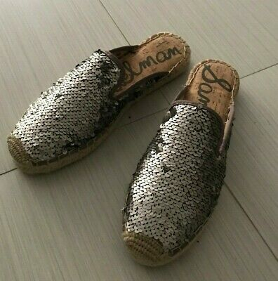 777aabaa3 SAM EDELMAN KERRY Sequined Espadrilles Mules 7.5 - $34.99 | PicClick