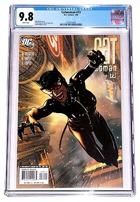 Catwoman #73 Cgc 9.8 - White Pages - Adam Hughes Cover - #1555314022