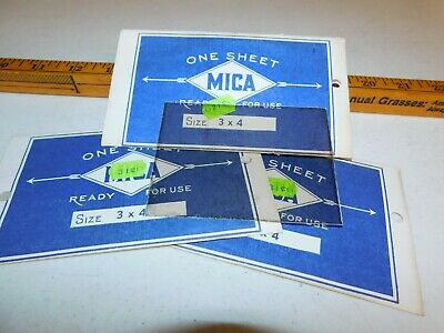 VINTAGE 3 pieces of Mica for phonograph reproducers 3x4