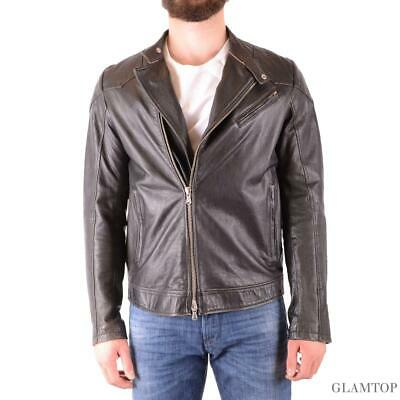 official photos 0466c 36f43 CC820 DANIELE ALESSANDRINI giubbotto pelle nero uomo men's leather black  jacket