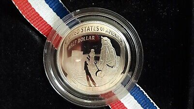 2019 S Apollo 11 50th Anniversary PROOF CLAD Half Dollar Curved Coin