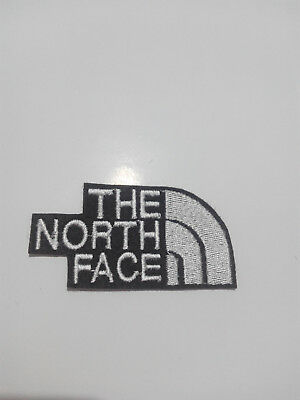 Parche bordado para coser estilo The north face 7/3,5 cm , Blanco adorno ropa