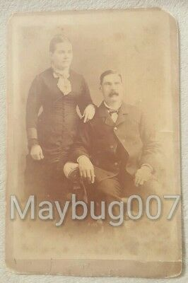 Antique Cabinet Card Photograph Syracuse, New York man and woman
