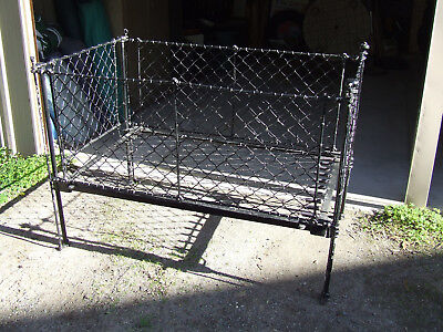 Antique Iron Drop - Sided Cot