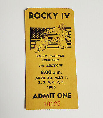 Original Rocky 4 IV Extra Audience Ticket Stub Admission Arena Filming Boxing
