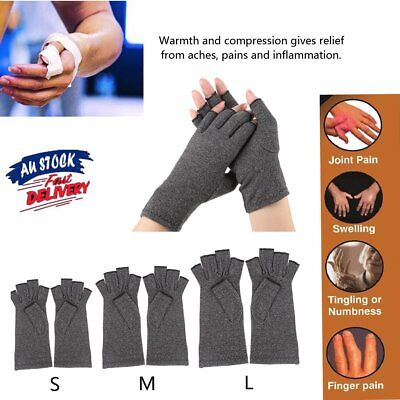 Arthritis Gloves Compression Joint Finger Pain Relief Hand Wrist Support Brace~~