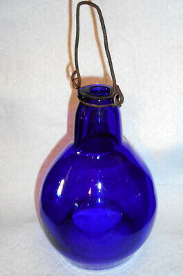 Early Fly Trap Cobalt Blue Blown Glass Found in New Jersey