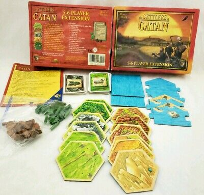 Settlers Catan 5-6 Player Extension.  Incomplete 3062 4th edition. Parts Only.