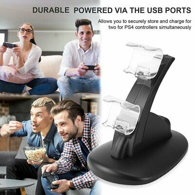 LED Dual USB Charger Docking Station for Playstation of PS4 Gamepad Joystick CI