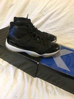 1776cd925dcb96 Nike Air Jordan XI 11 Retro SPACE JAM Size 10.5 Rare Black  378037- 041