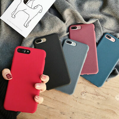 For iPhone 8 Plus XS XR Original Shockproof Thin Soft Sandstone Matte Case Cover