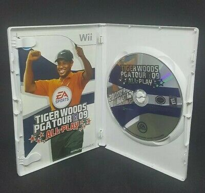 Tiger Woods PGA Tour 09 All-Play - (Nintendo Wii, 2008) - Video Game - Tested