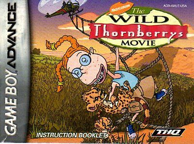 GameBoy Advance, The Wild Thornberrys Movie (US) **INSTRUCTION BOOKLET ONLY**