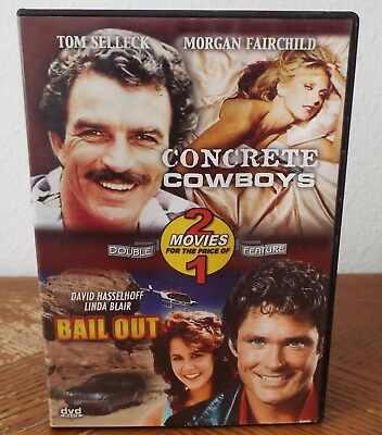 The Concrete Cowboys & Bail Out (DVD) Tom Selleck, David Hasselhoff