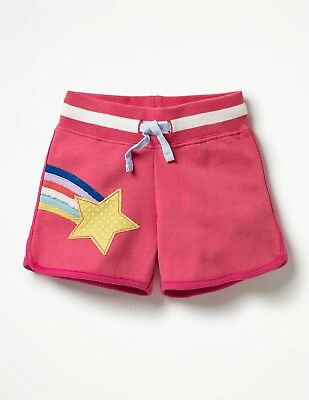 New MINI BODEN Girls Pink Rainbow Star Applique Shorts size 5 years