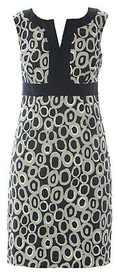 8552c662499 BODEN WOMEN S GREY Printed Notch Neck Dress WH361 US Sz 2P  168 NWOT ...